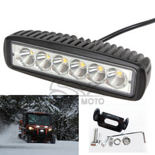 Universal 18W 1360LM Motocross Waterproof LED Spot Day Work Running Light Auxiliary Lamp for Motorcycle Car Truck Off Road ATV(China)