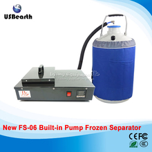 FS-06 liquid nitrogen frozen Separator 2 in 1 pack built-in oil-free pump with 10L liquid nitrogen tank 220V 300W(China)