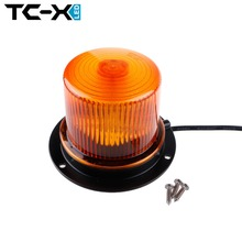 TC-X Amber LED Warning Lights Medium Magnetic Mounted Vehicle Police LED Flashing Beacon Strobe Light Emergency Lighting Lamp
