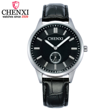 CHENXI Brand Couple Lovers New Promotional Watches Female Leather Strap Watches Man Quartz Watch Men&Women Gift Clock Wristwatch