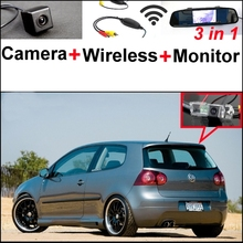 For Volkswagen VW Golf Rabbit 3 in1 Special Rear View Wifi Camera + Wireless Receiver + Mirror Monitor Easy DIY Parking System