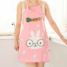 2017 HOT Nice Monther Gift Mommy Love HOT Women Cute Cartoon Waterproof Apron Kitchen Restaurant Cooking Bib Aprons(China)