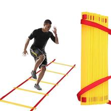 8 Rungs Gait Training Ladder Agility Orange Exercise Sports Plastic Foot Soccer Team Outdoor Equipment Tool Trendy