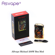 New Version Original ASvape Michael 200W Mod Kit OUT DIY/TC/VW/Bypass Mode Electronic Cigarette Fashion USA Vape Vaporizer Mod(China)