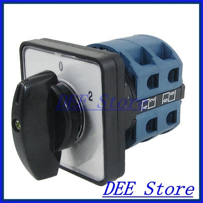 AC 440V 240V 8 Screw Terminals 1-0-2 Position Changeover Switch<br><br>Aliexpress