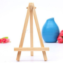 5pcs/Lot Mini Wood Artist Tripod Painting Easel For Photo Painting Postcard Display Holder Frame Cute Desk Decor 8*15cm(China)
