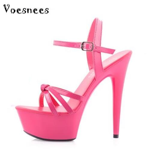 Sandals Women Shoes Platform Steel Pipe Dance Shoes Nightclub Thin High-heeled Shoes 13-15 cm Female Waterproof  Wedding Shoes<br>