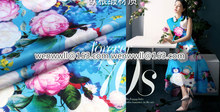 designer 100% pure natural mulberry silk Organza satin fabric 1meter pink and blue O061