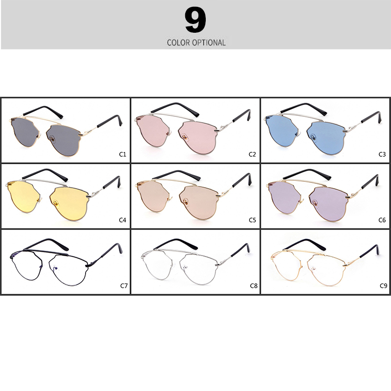 STORY 2018 Classic Gold Frame Purple Lens Cat Eye Sunglasses Women Band Designer High Quality Cateye Sun Glasses Oculos ST004