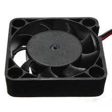 2017 Top Sale Black 12V 2 Pin 40mm Computer Heatsink Cpu Cooler Radiator Small Cooling Fan PC F Heat Sink Wholesale