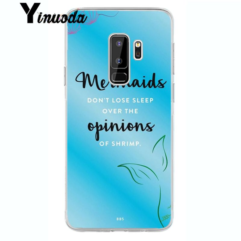 Yinuoda Shell Mermaid Tail  TPU Transparent Phone Case Cover Shell for samsung galaxy edge S6 edge plus S8plus