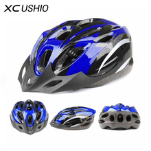 1x 55-61cm Average Size Road Bike Bicycle Cycling Safety Helmet / Hat / Cap Light EPS 18 air vents MTB Cycling Helmet with Belt(China)