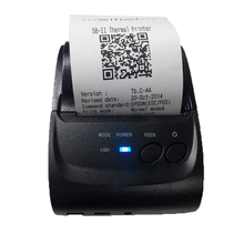 ZJ5802LD Printer Portable Mini Bluetooth 2.0 USB Port 58mm Thermal Receipt Printer Low Noise for paypal payment Android Windows(China)
