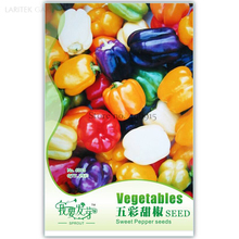 Heirloom Colorful Sweet Pepper Vegetables, Original Pack, 25 Seeds, including white red purple yellow green orange peppers(China)