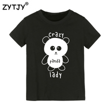 Crazy Panda Lady Print Kids tshirt Boy Girl t shirt For Children Toddler Clothes Funny Top Tees Drop Ship Y-15(China)