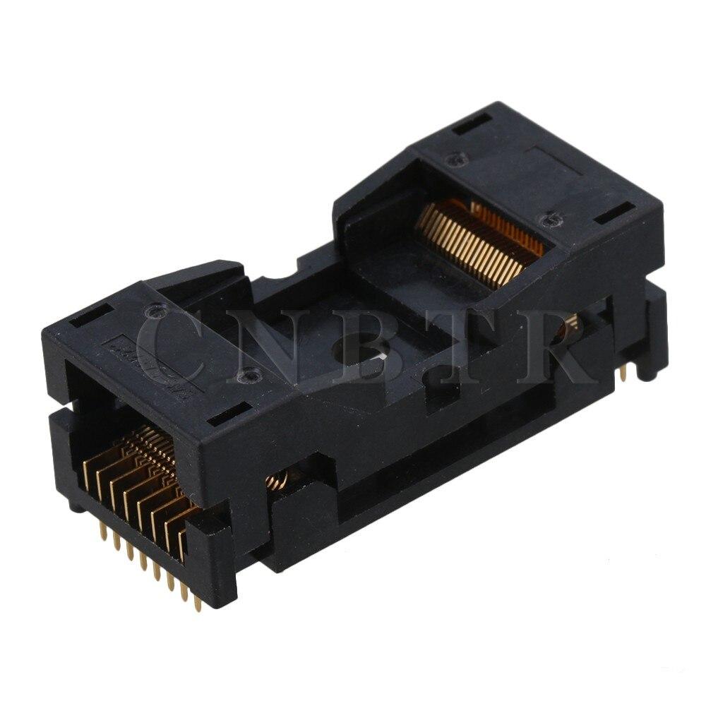 CNBTR 40x18mm Black 0.5mm Pin Pitch IC Programming Test Socket Burner Seat for TSOP48 Chip 648-0482211-A01<br>