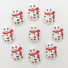 Buy DIY 10pcs 15*21mm Resin hand painting Christmas snowman Flatback stone/Children scrapbook K063 for $1.88 in AliExpress store