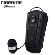 Original FineBlue F910 Wireless Bluetooth V4.0 Vibrating Alert Wear Clip Earphone Music Earphone for iPhone Samsung HTC