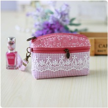 Cotton floral lace children organizer wallet women money pouch coin purse bag bolsa carteira feminina bolso mujer for kids girls(China)