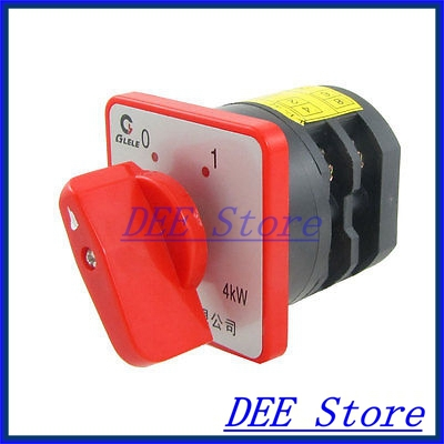 AC 380V 20A 4KW ON/OFF 2 Position Rotary Cam Universal Changeover Switch<br><br>Aliexpress