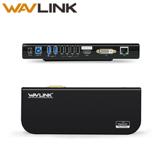 usb 3.0 universal laptop docking station dual video support dvi/hdmi/vga to 2048X1152 external graphics ethernet 6 ports wavlink(China)