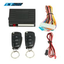 Car Alarm Systems Remote Central Locking with Remote Control Vehicle Keyless Entry System With Start Stop Button for Audi Style(China)