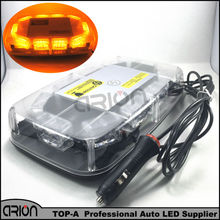 New 30LED DC 12V 30 LED Car Roof Flashing Strobe Emergency Light Bar Mini Warning Beacons Lights Lighting Dome lamp Amber Yellow