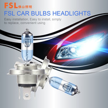 FSL 1Set H4 12V 60/55W Xenon Halogen Bulbs 3300K H4 12V 100/90W Auto Car Headlight Replacement Lamps Drop Shipping(China)