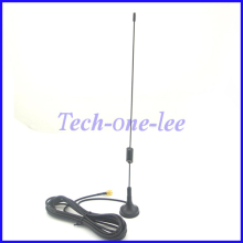 1 piece 7-8dbi Radio 900-1800Mhz GSM Antenna Wireless WLAN SMA Plug Straight Magnetic Base Ham Radio 3M Cable