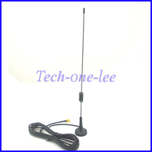 900-1800Mhz GSM Antenna 7-8dbi Wireless WLAN SMA Plug Ham Radio Sucker Antenne RG174 3M Cable(China)