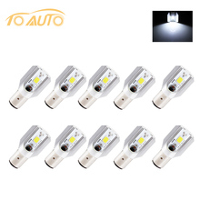 10PCS H6 Led Motorcycle Headlight Bulbs COB Led 1000LM BA20D Lamp Scooter ATV Moto Accessories Fog Lights For Suzuki