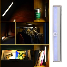 New Arrival Wireless Sensor Night light 10 LED Infrared Body Motion Detector Closet Cabinet Light Free Shipping