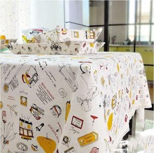 Whire Printed Tablecloths Rectangular Table Cover For Home Europe Modern Rectangular Lace Table Cloth Toalhas Mesa