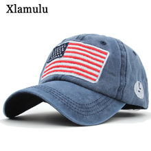 Xlamulu Washed Baseball Caps Men Snapback Hats Women Casquette Brand Men Caps Vintage Washed Bone Male Gorras USA Flag Caps