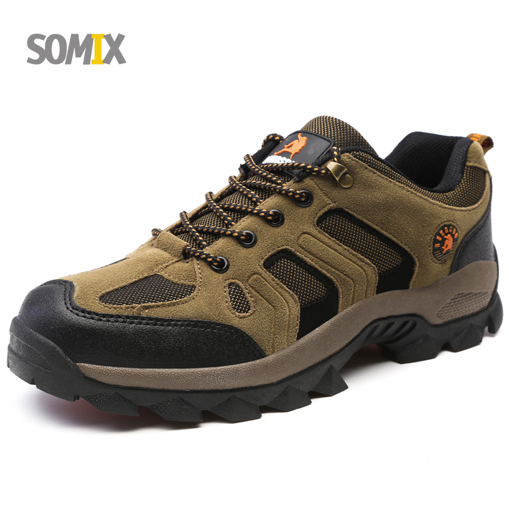 Somix Hiking Shoes Men 2017 Summer Comfortable Breathable Outdoor Sport Shoes Men Wear-resisting Trek Climbing Shoes Damping<br>