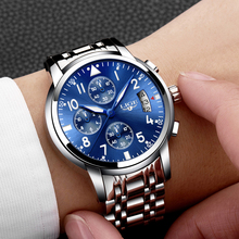 Buy relogio masculino LIGE Mens Watches Top Brand Luxury Fashion Business Quartz Watch Men Sport Full Steel Waterproof Wristwatch for $21.99 in AliExpress store