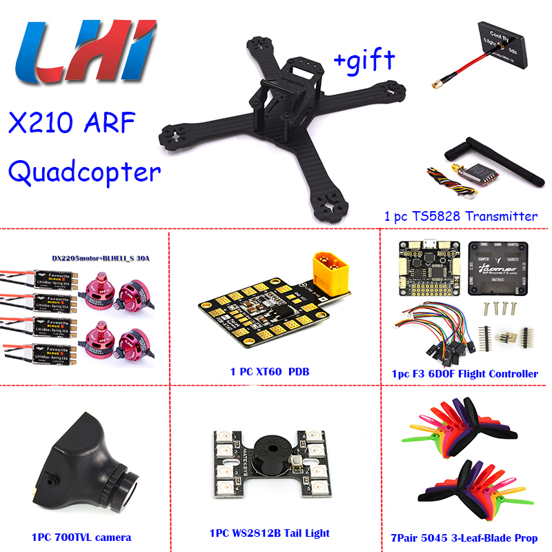 X210 quadrocopter rc airplane mini drone professional Carbon Fiber Frame LittleBee 30A DX2205 motor Matek PDB-XT60 quadcopter
