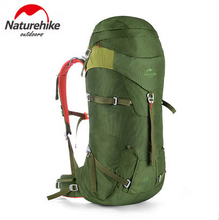 Naturehike Outdoor Nylon Fabrics Aluminum Bar Support Backpack Travel Camping Hiking Sport Bag Women Men 45L NH16B045-D(China)