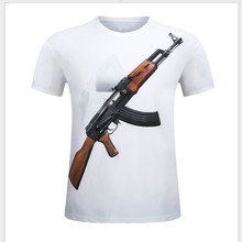 New Men Clothing Cotton Tee Leisure shirt Ak47 Manufacturers Spring Summer Personalized S-6XL Size Fashion Free Shipping Cool