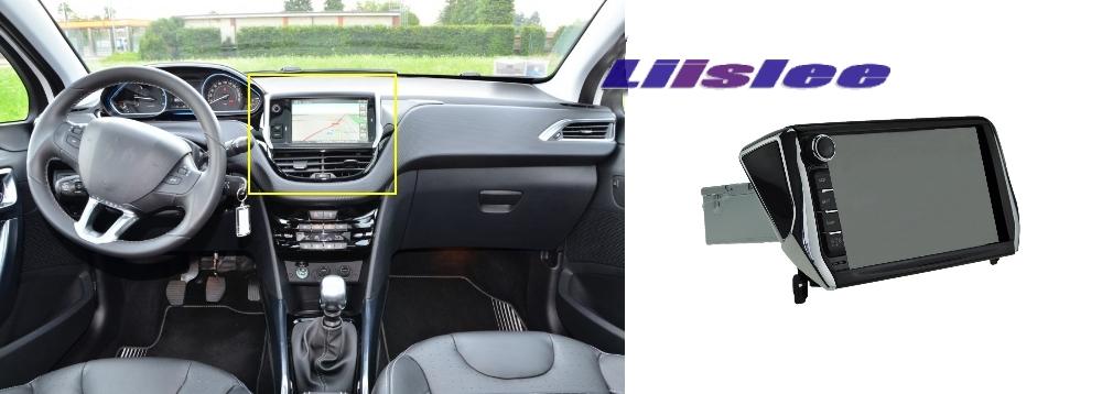 Car Multimedia Video GPS NAVI TV Controller System For PEUGEOT 2008 4