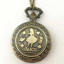 FANTASY UNIVERSE Freeshipping 1pc Alice in Wonderland pocket Watch necklace Dia4.7CM HYT05