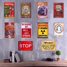 Shabby chic Metal Tin Signs Pin up Girl Garage Warning signs Hot Road Man Cave Restaurant Coffee Craft Wall Painting Decor(China)