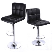 2 PC High quality Swivel Office Furniture Computer Desk Office Chair in PU Leather Chair bar stool New  HW50129-2BK