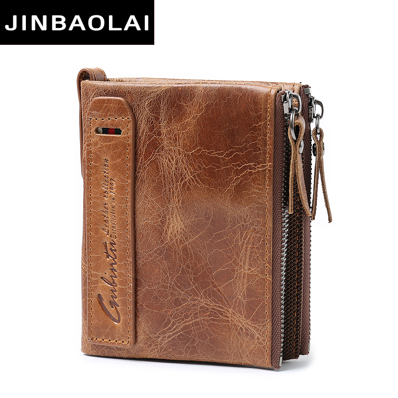 JINBAOLAI Genuine Cowhide Leather Men Wallet Short Coin Purse Small Vintage Wallets Brand High Quality Designer Wallet Purses<br><br>Aliexpress