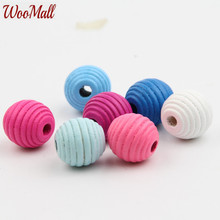 Buy 20Pcs Wooden Thread Beads Wood Findings Baby DIY Crafts Kids Toys Teething Necklace Pacifier Clip Spacer Beading Bead for $2.23 in AliExpress store