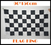 BLACK and WHITE Grid Flag, Racing checkered flag ,CHECKERED RACING FINISH LINE FLAG - NASCAR 3x5 NEW  90*150cm