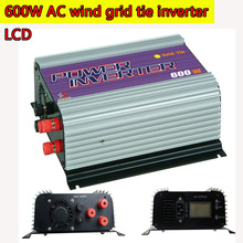 600W LCD Grid Tie Inverter with Dump Load for  3 Phase AC Wind Turbine Generator MPPT Pure Since Wave Wind On Grid Inverter NEW