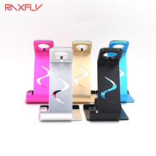 RAXFLY Universal Aluminum Metal Mobile Phone Desk Holder Case Samrtphone Watch Tablet Computer Car Ajustable Stand Support