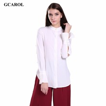 Women Trend OL Elegant Shirt Asymmetric Length Ruffles Sleeve Design Blouse Euro Style White Office Wear Tops For 4 Season