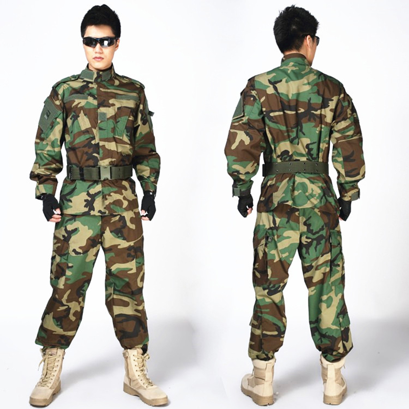 Wholesale Outdoor Combat Army Tactical Uniform Men Special Forces Training Uniform Hunting Shooting Paintball camouflage Sets<br>